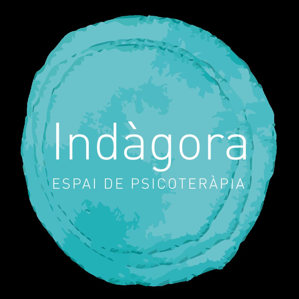 Logo Indagora sobre rodona blava