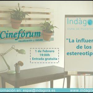 """Cinefórum """"La influencia de los estereotipos"""""""
